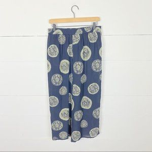 Suzelle Vintage 100% Silk Wide Leg Crop Pants